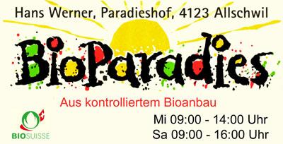 Bioparadies Hans Werner, Binningen